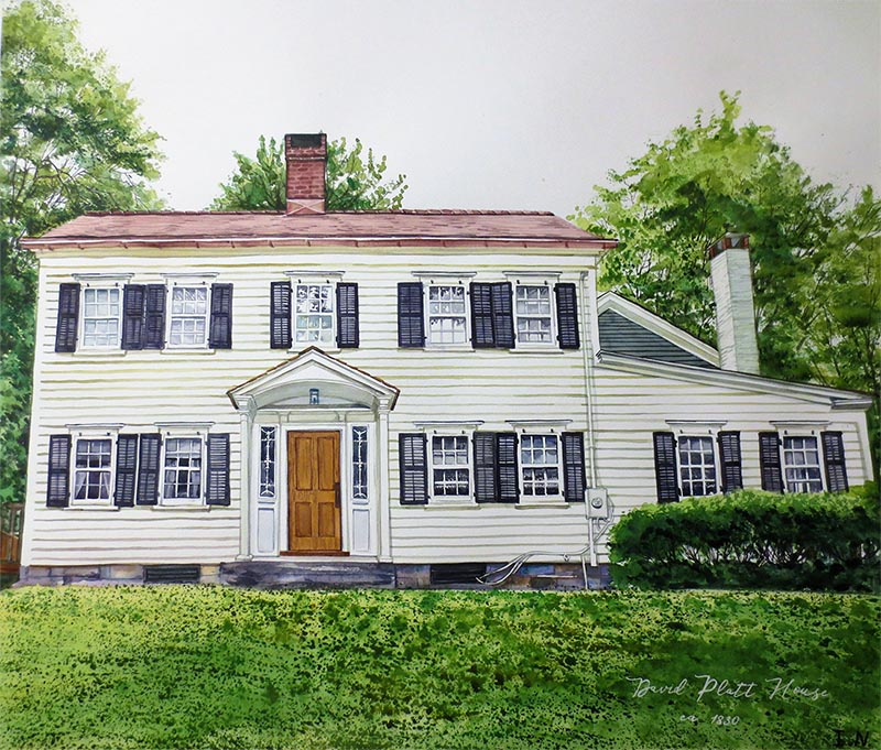 photo to watercolor painting house