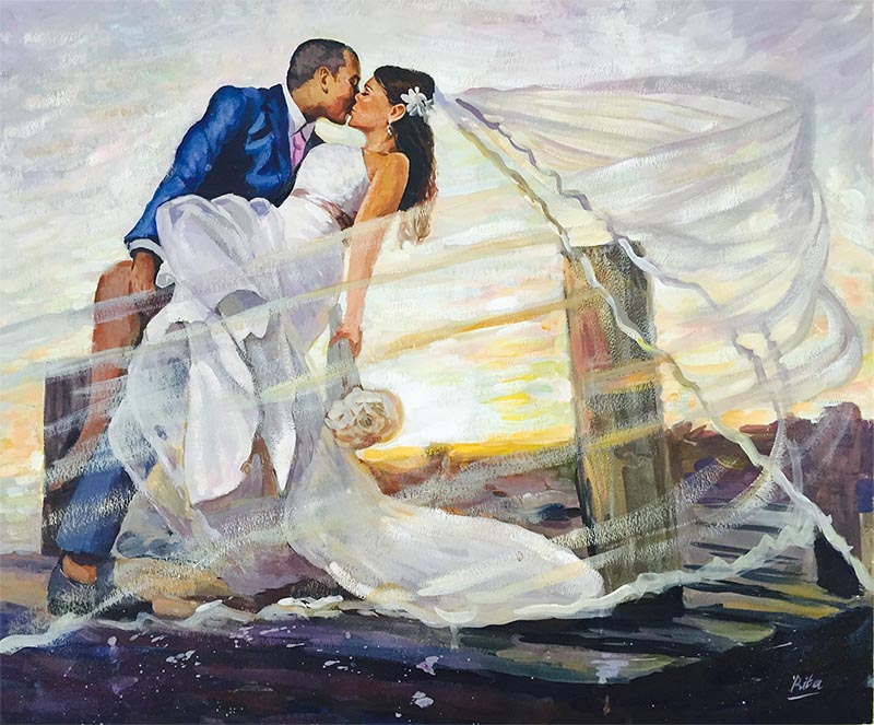 wedding painters pastel