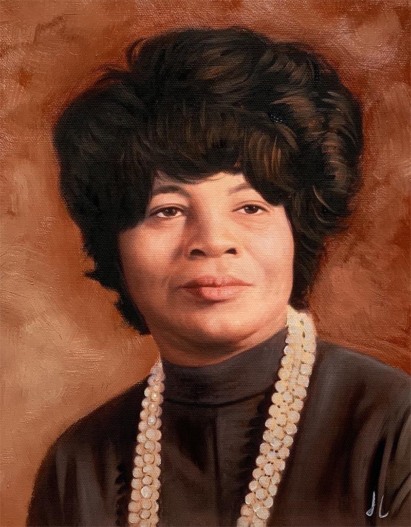Beautiful acrylic portrait of a lady