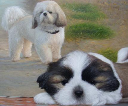 unsere Hunde in Öl porträtiert