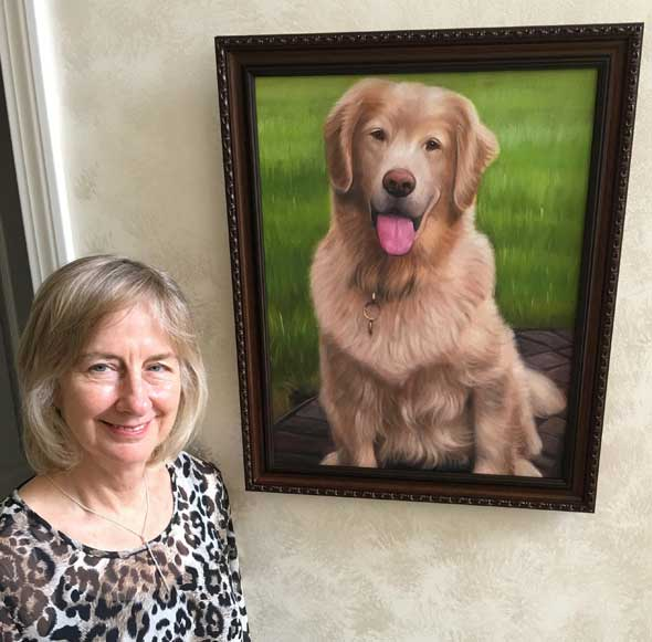 golden dog portrait