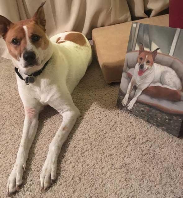 custom art dog painting