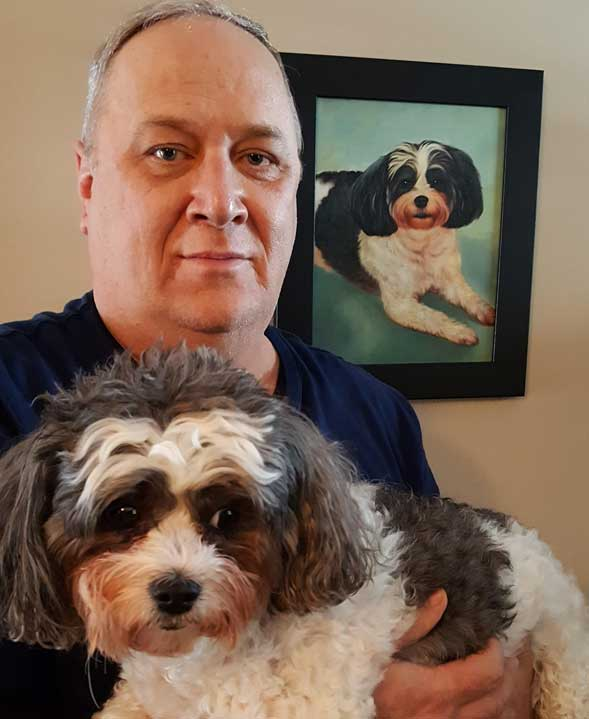 paint your pet dog portrait