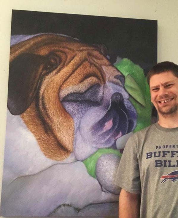 paint your pet custom portrait