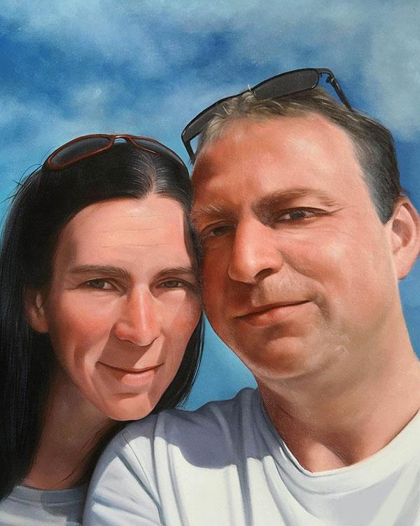 Ölportrait von einem Paar