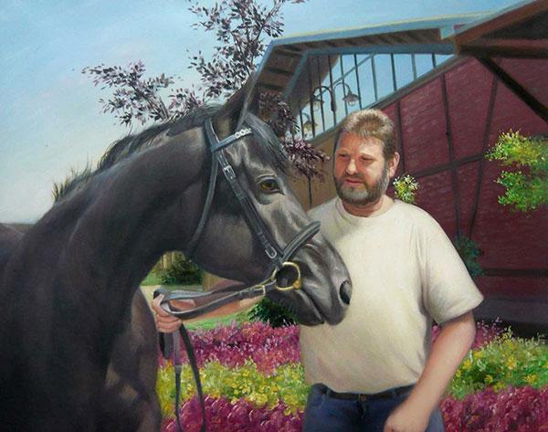 mein Pferd als Ölgemälde