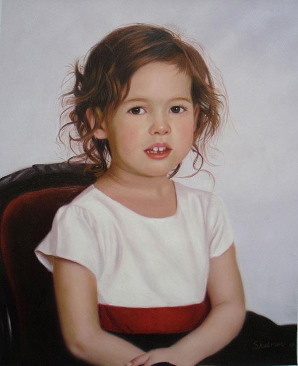 portrait peinture enfant