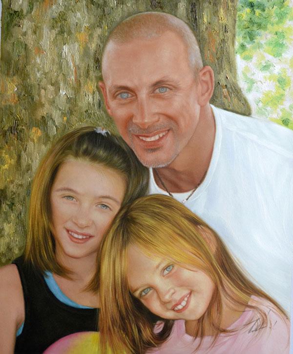 Tableau portrait famille