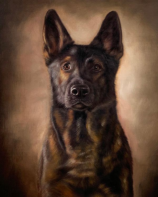 custom art dog portrait