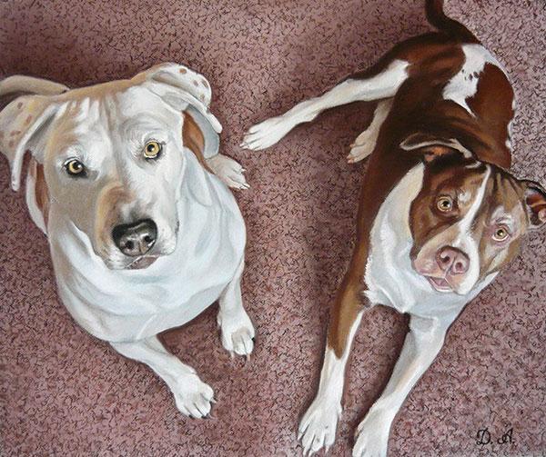 Ihre Hundefotos malen lassen