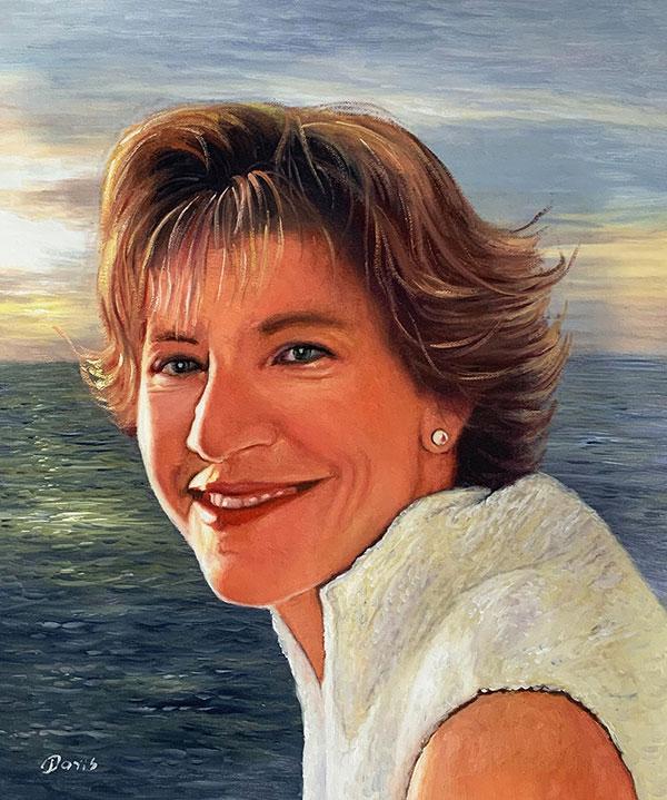 Gemälde einer Frau in Öl