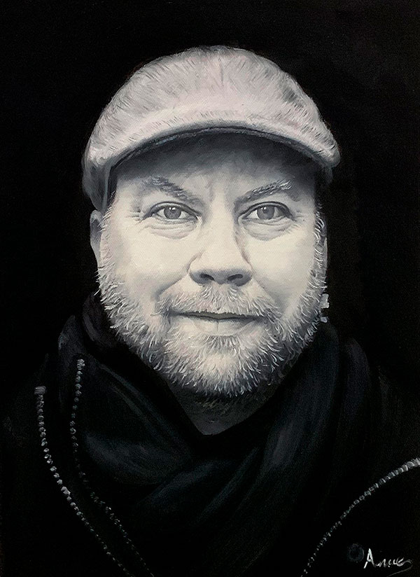 Personalized oil painting of a man