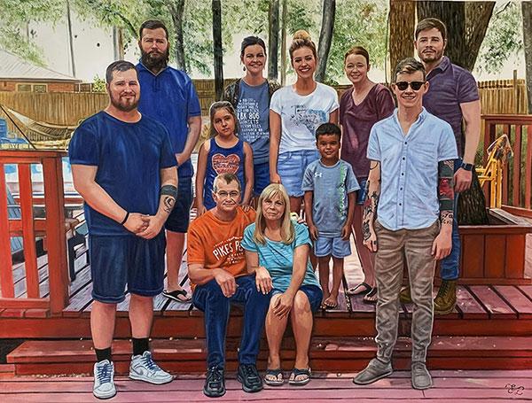 Custom oil family portrait