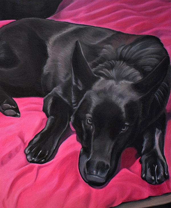 Peinture portrait chien