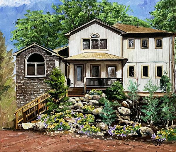 Stunning handmade oil artwork of a landscape