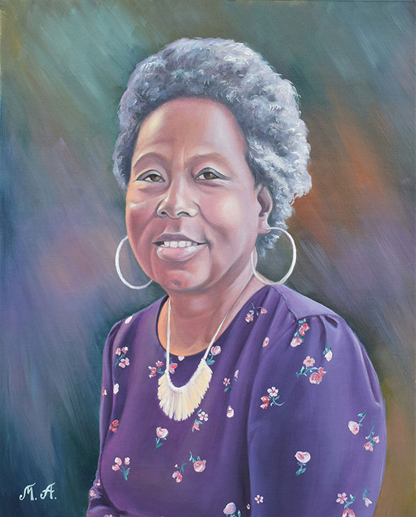 Personalized oil portrait of a lady