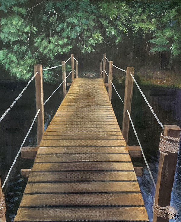Stunning handmade pastel painting of a landscape