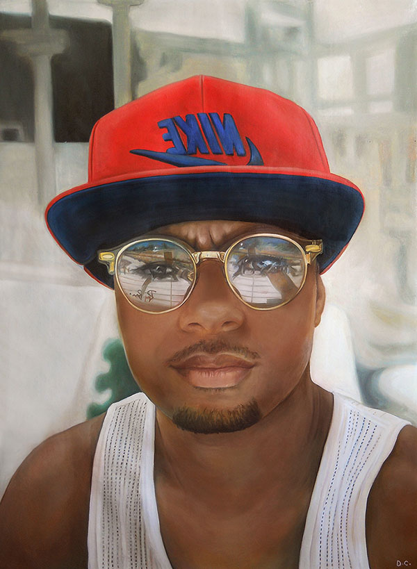 Personalized close up oil portrait of an adult