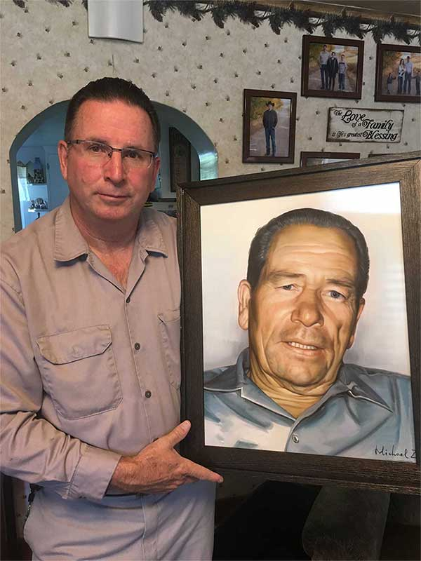 memorial painting of a grandfather
