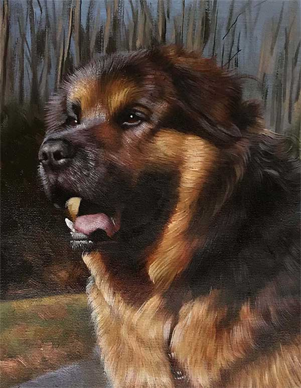faire peindre portrait de mon chien