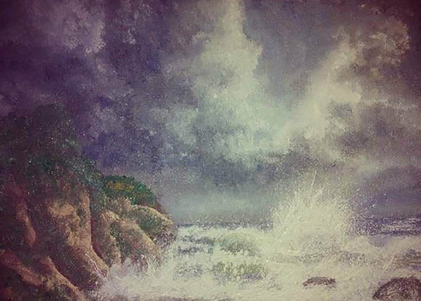 landscape photo to a painting