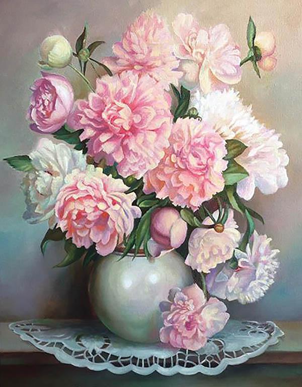 Composizione floreale olio da fotografia