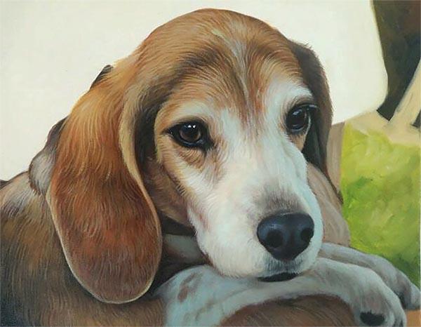 dog artwork of a beagle