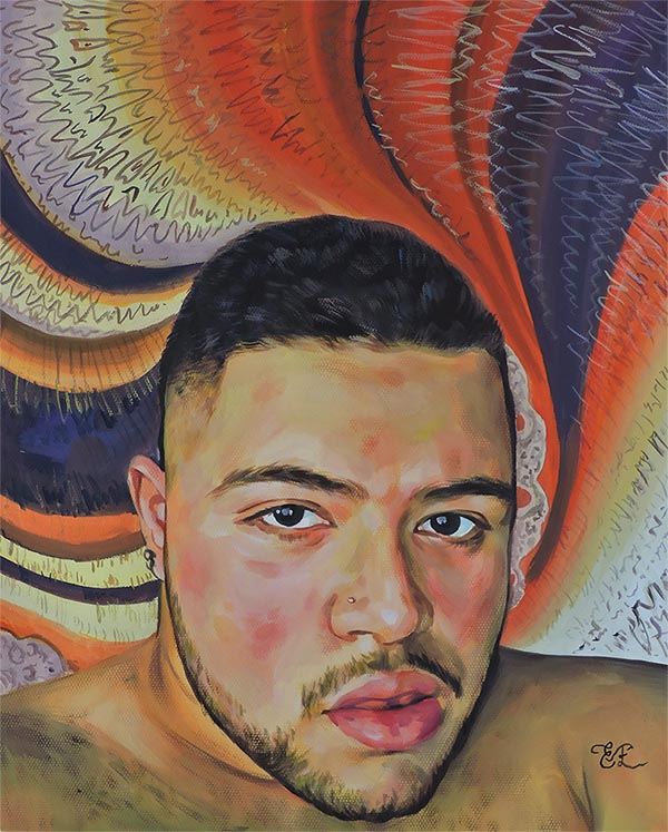 a pastel painting of a self turn your photo into painting