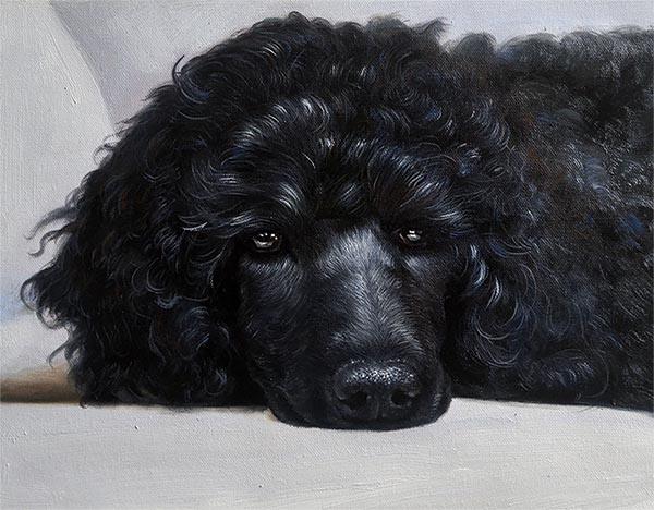 hondendoek schilderij