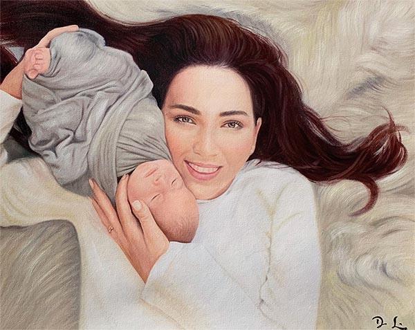 arte personalizado, de foto a pintura, retrato online