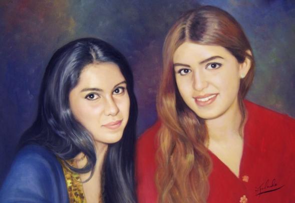 artiste peintre portrait soeurs