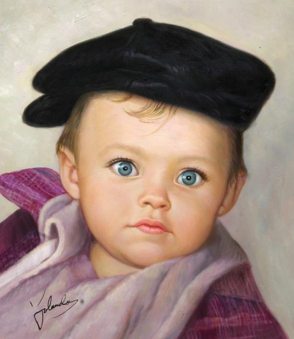 portrait peinture bébé