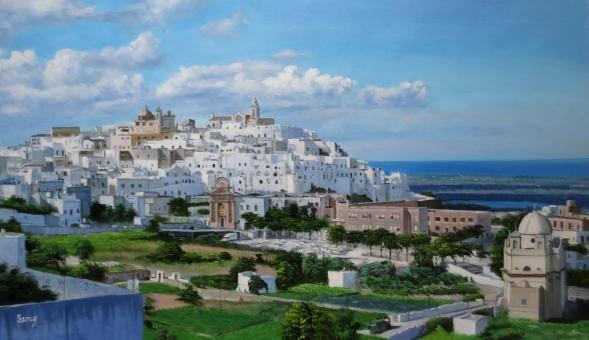 custom landscape handmade painting