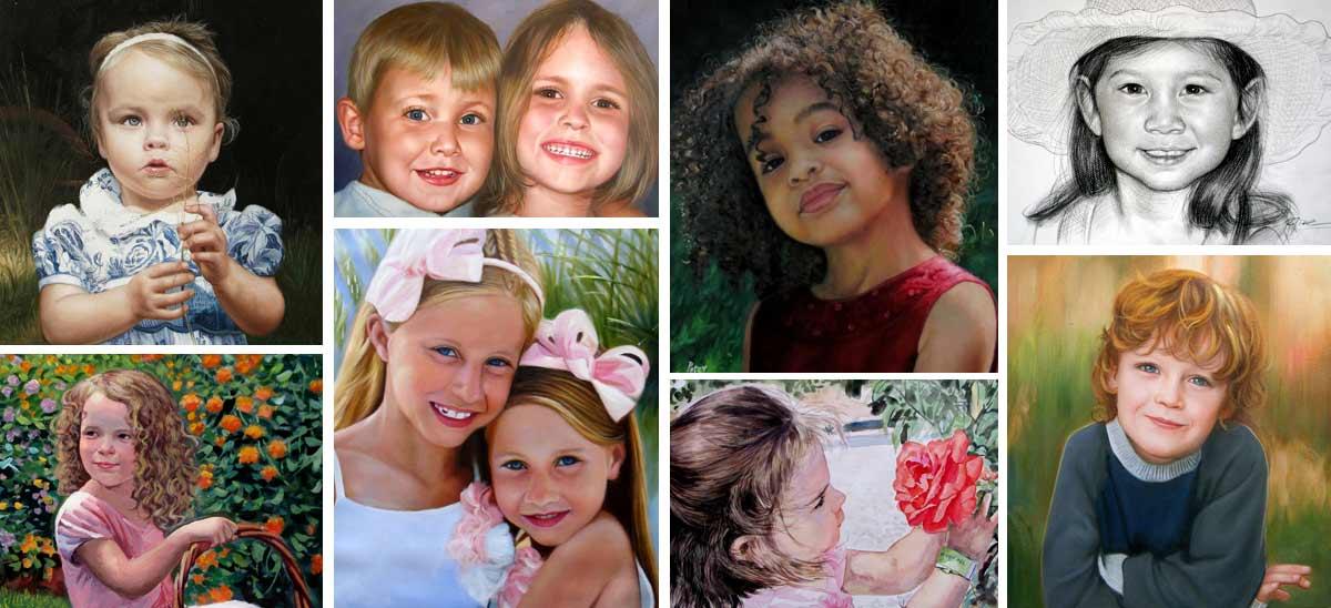 Kinder Porträts