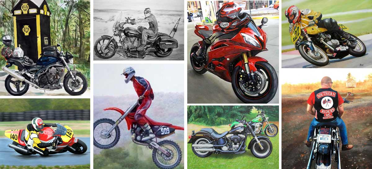 Portraits de motos