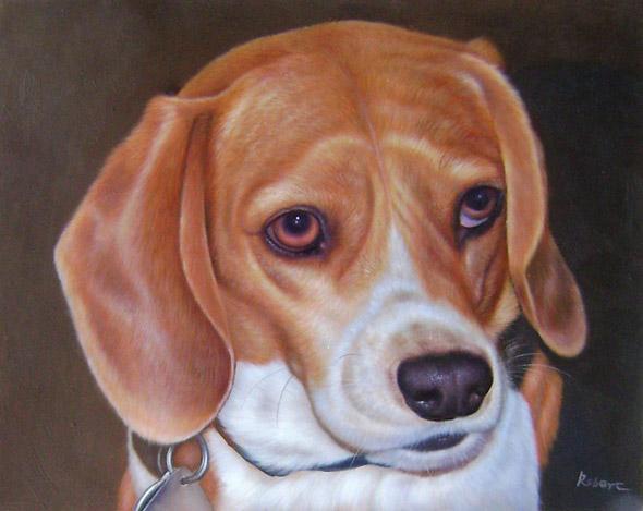 cute dog custom art