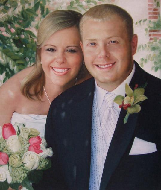 oil wedding portrait