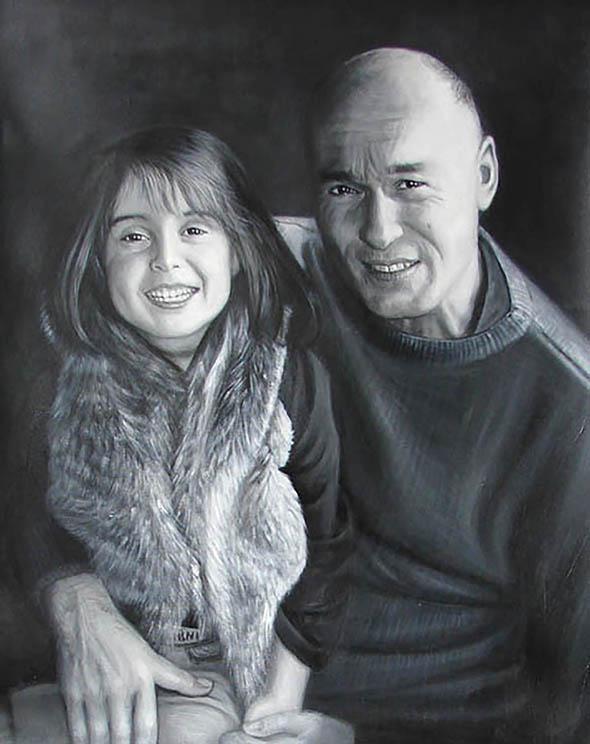 Peinture aquarelle noir et blanc