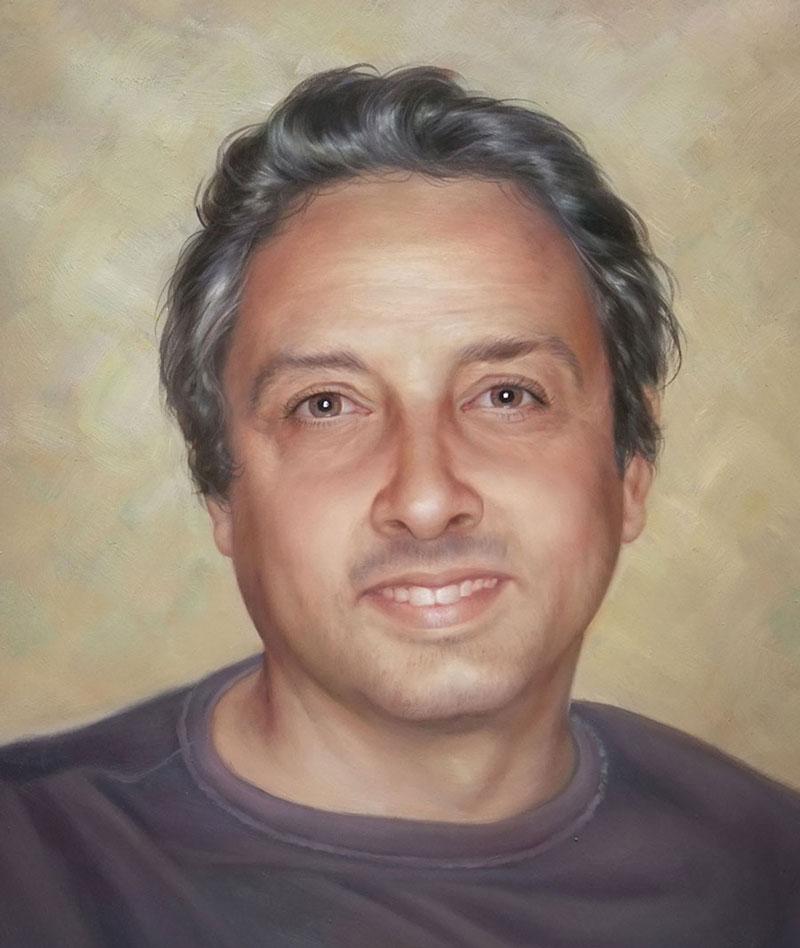 mejor regalo de retratos al óleo pintados a mano de foto