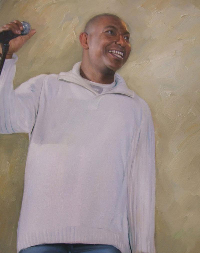 peinture portrait homme