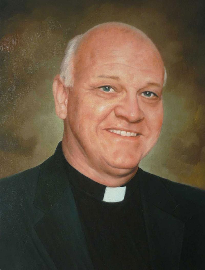 a custom oil portrait of a pastor