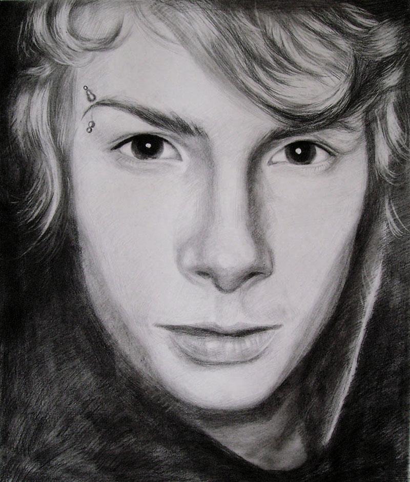 Bleistiftzeichnung von einem Mann