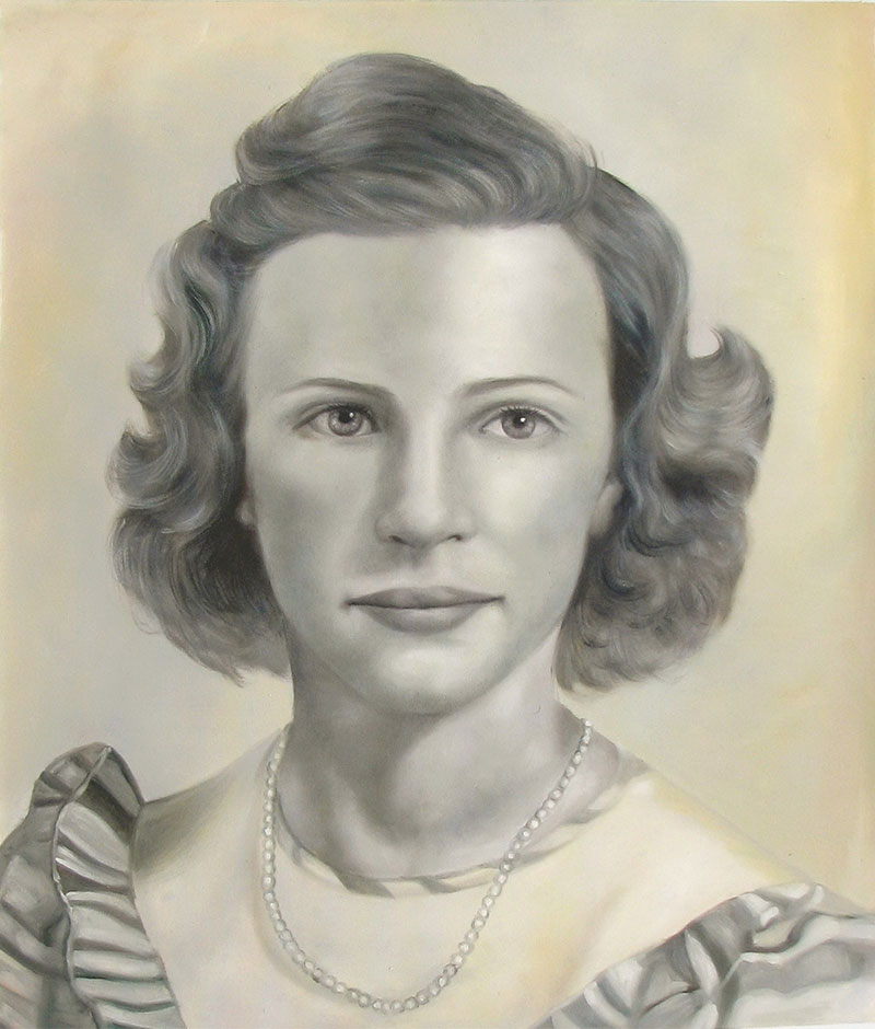 custom black and white vintage oil painting of woman