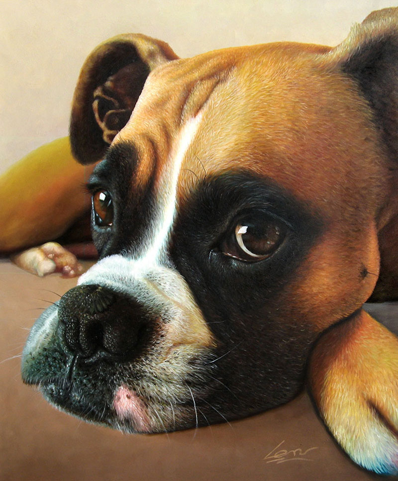 custom dog portrait in oil - turn your photo to art!