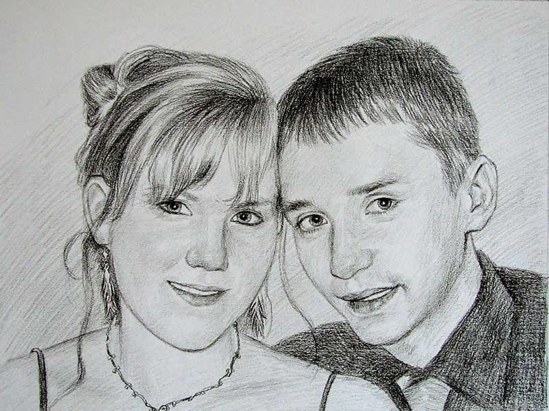 Foto als Bleistiftzeichnung