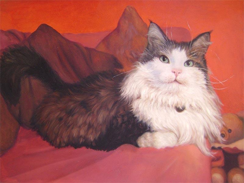 cat canvas painting