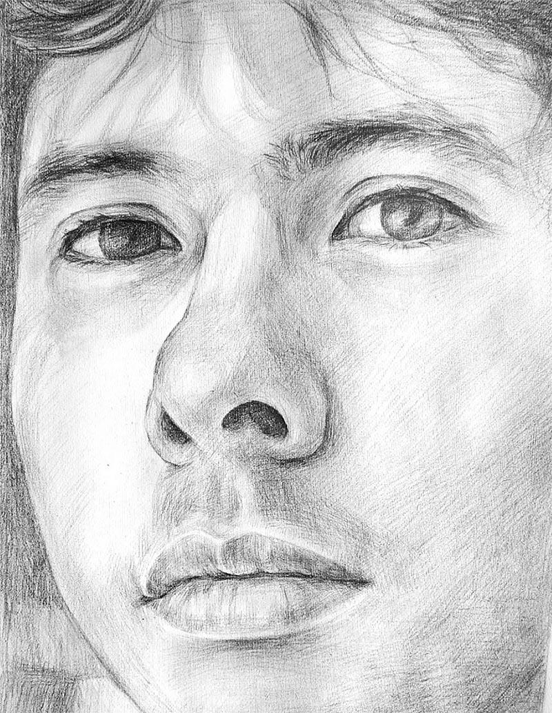 dipingere il ritratto personalizzato