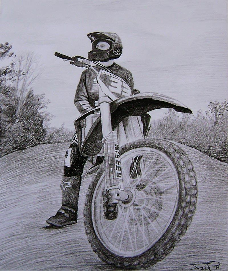 dibujos al carbon
