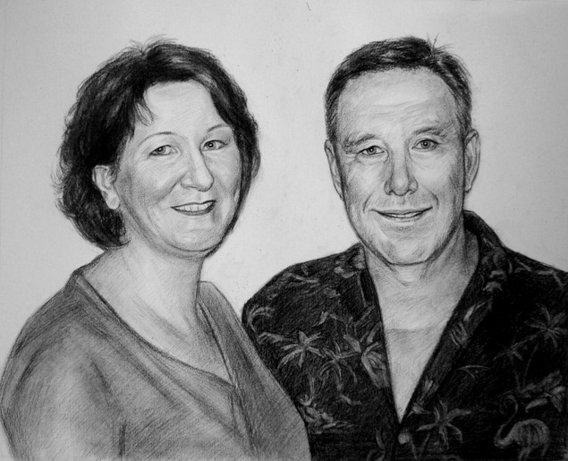 custom drawing of parents