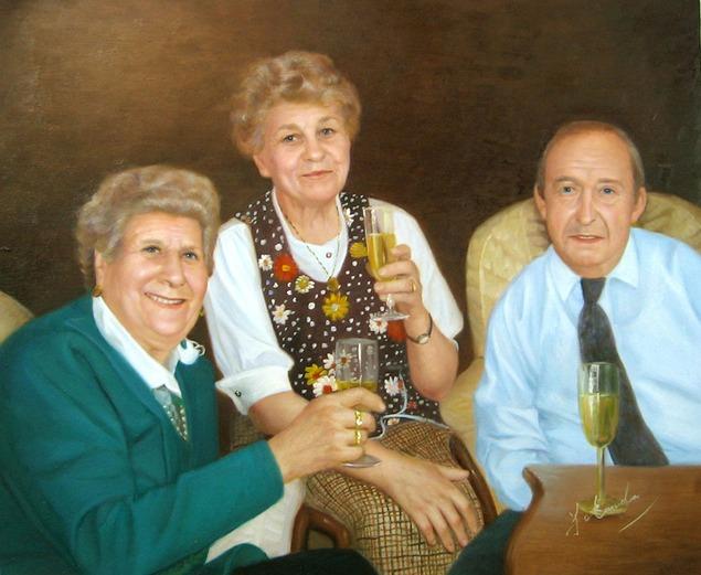 peintre pour portrait de famille